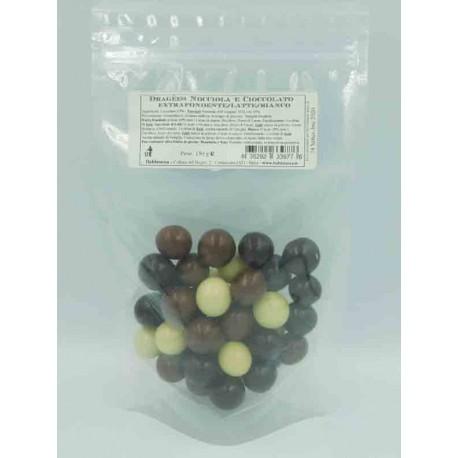 Dragées Noisette et Chocolat - Mixtes sachet 150 g
