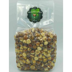 Partially peeled Toasted Hazelnuts